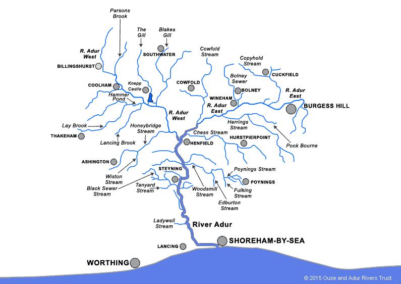 Map of River Adur catchment