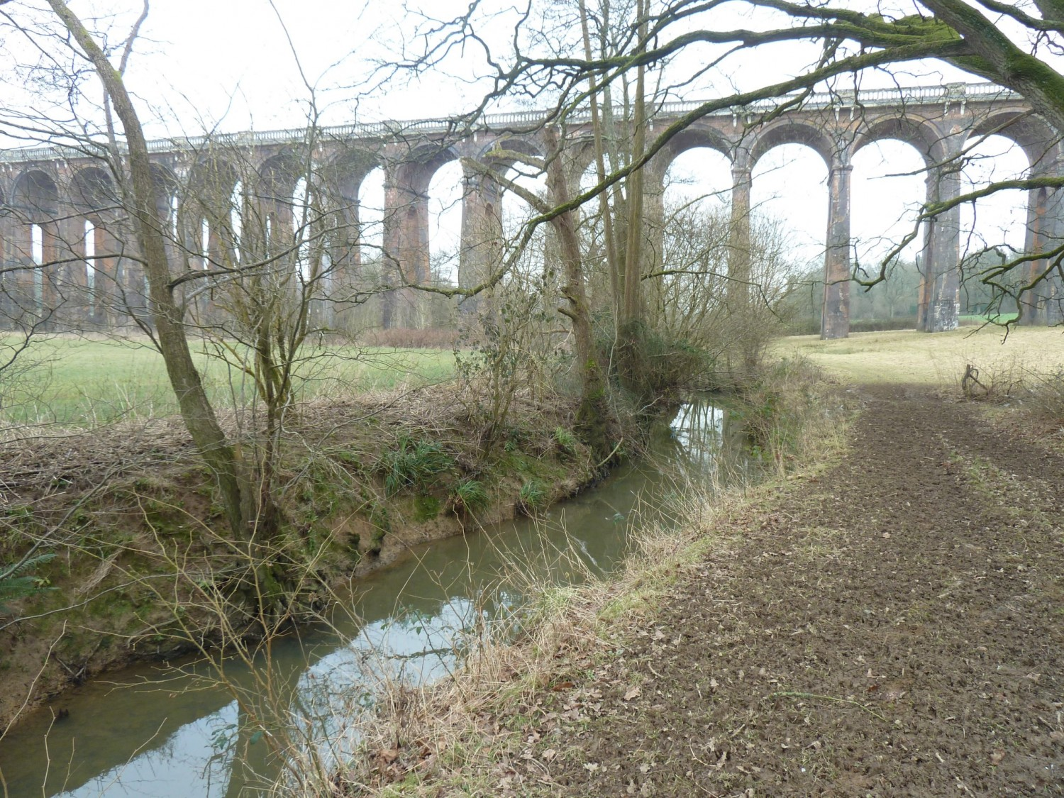 Balcombe Viaduct and the River Ouse