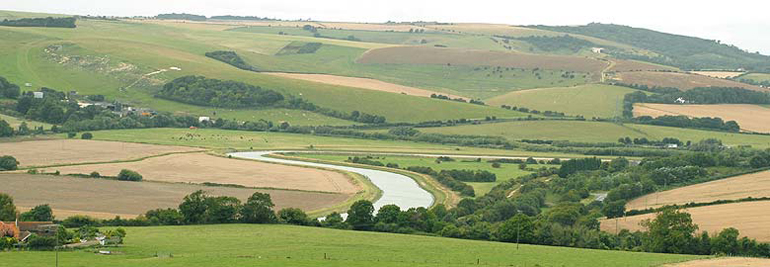 View of the tidal Adur from Mill Hill Shoreham
