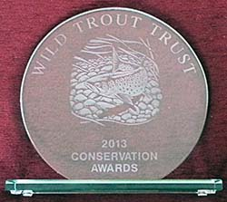 Wild Trout Trust conservation award to OART for MORPH work