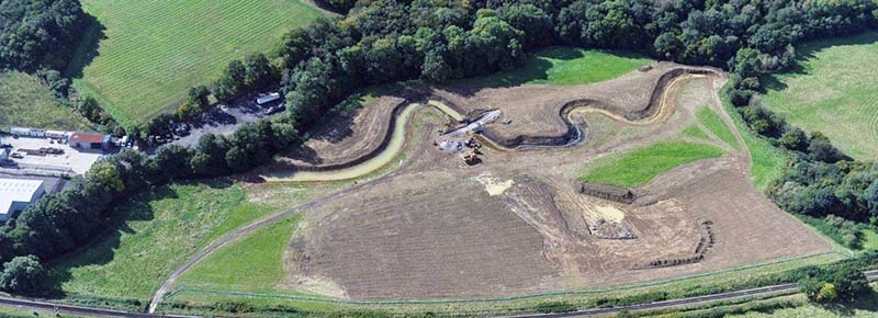 Spring Meadow restoration from the air